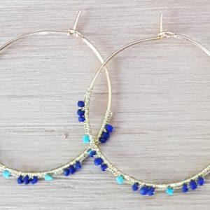 Créoles Lapis Lazuli & Turquoise