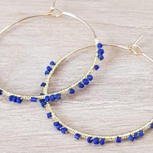 Créoles Lapis Lazuli